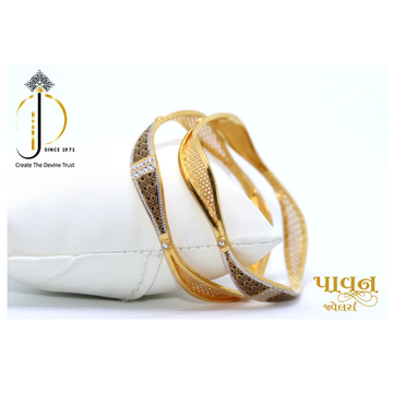 22KT / 916 Gold Fancy Zigzag  2-in-1 Design Bangle... by
