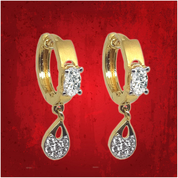 gold butti with aD by