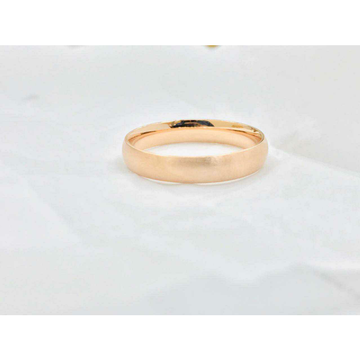 92.5 Sterling Silver Plain Rose Gold Band Ms-3897