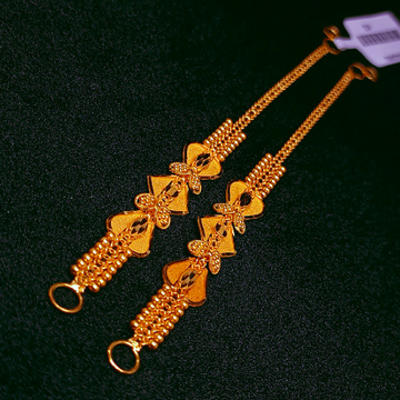 916 Gold Designer Kanser by Ghunghru Jewellers