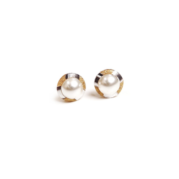 22K Gold Pearl Tops by