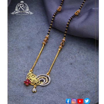 22 carat gold traditional ladies mangalsutra RH-MN585