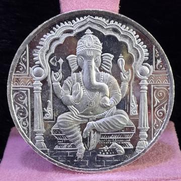 999 Silver Twenty Five Gram Ganpati Silver coin