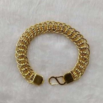 916 Gold Modern Gents Bracelet