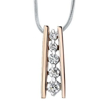 Delicate rose gold diamond pendant