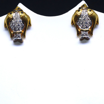 22KT / 916 Gold fish shape earring for ladies BTG0063