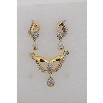 22Kt Gold CZ Delicate Pendant Set MJ-PS008