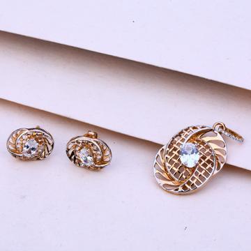 750 Rose Gold  Women's Fancy Pendant Set RPS93