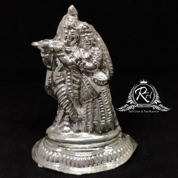 silver antic radha-krishna murti rh-mt953