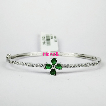 92.5 sterling silver cz stone Kada bracelet ML-78