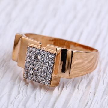 18KT Rose Gold CZ Fancy Mens Ring RMR96