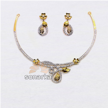 916-Fancy-Lightweight-CZ-Gold-Necklace-Set by