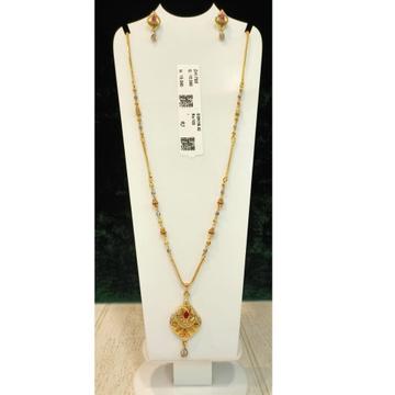 916 Gold Hallmark Delicate Pendant Set