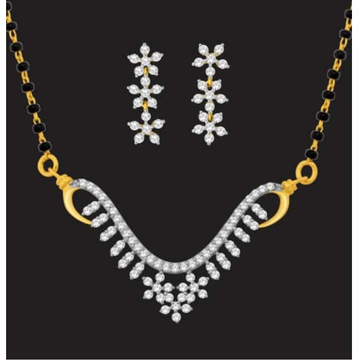 916 gold fancy diamond mangalsutra jj-m09