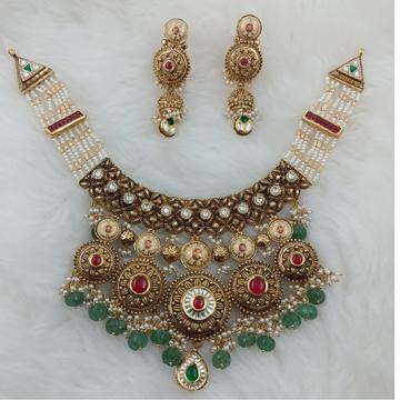 916 GOLD RAJSTHANI BRIDLE PADMAVATI COLLECTION SET by Ranka Jewellers