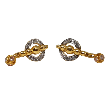 18K Gold Round Shaped Fancy Earrings MGA - BLG0612