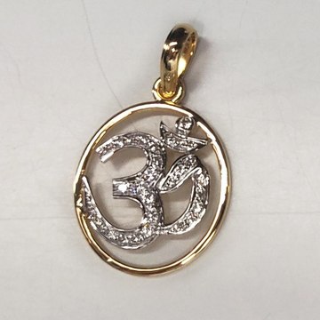 916 gold om design pendant md-p001