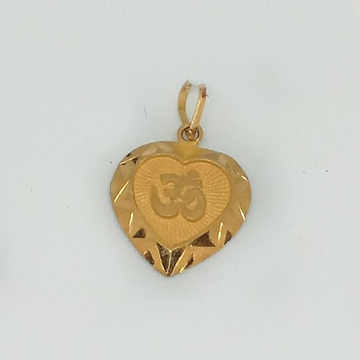 916 Gold Om Design Pendant MJ-P003