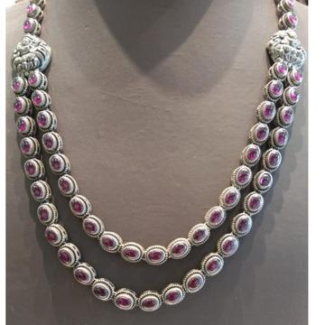 Silver 2Layer Unique Design Necklace by