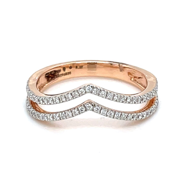 Double Single Line Band Ring in Rose Gold 0LR196