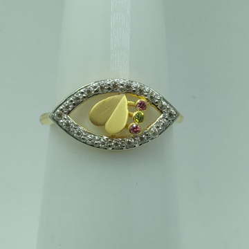 22KT gold CZ Heart Shape Ring For Women SSJ-R009