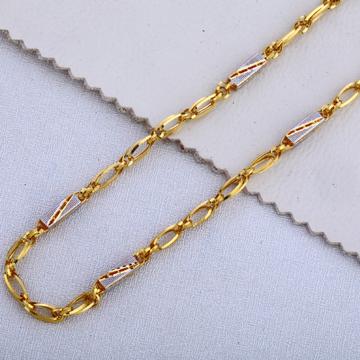 916 Gold Men's Fancy  Plain Chain MCH517