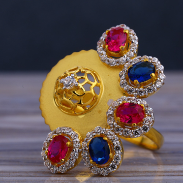 916 Color Stone Ladies Long Ring LLR213