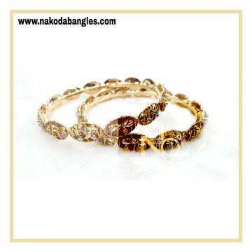 916 Gold Italian Bangles NB - 865