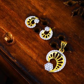 916 Gold CZ Delicate Pendant Set TJ-PS01 by