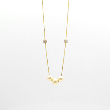 22K Light weight chain with moti pendent by