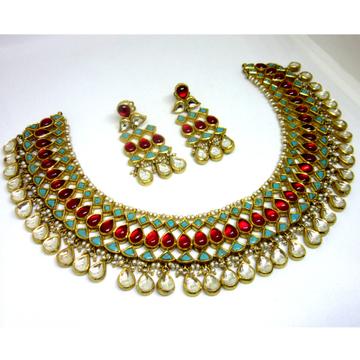 Gold 22k 916 antique color stone set by