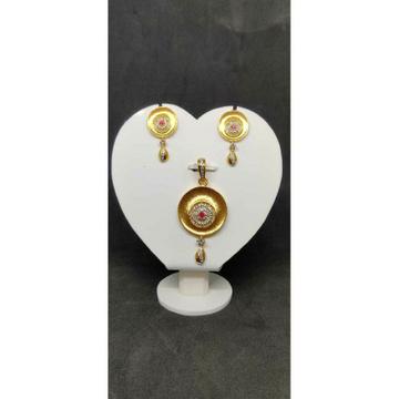 916 gold pendant set For Women NO-39502