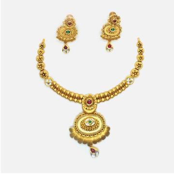 916 Gold Antique Bridal Jewellery Set RHJ-4960