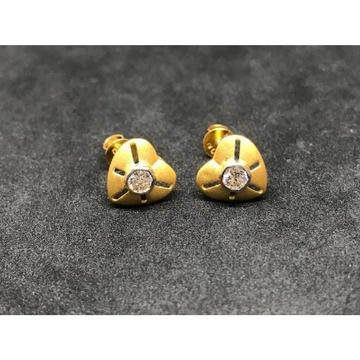22k Ladies Fancy Single Stone Earring E-62501
