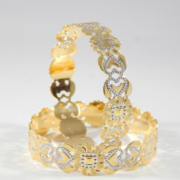 22KT Gold  Heart Charm Bangles  for Women