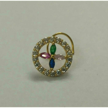 Indian Classic Gold Diamond Nosepin