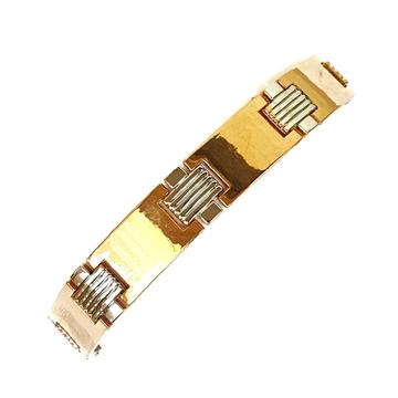 One gram gold forming plain modern style bracelet mga - bre0098