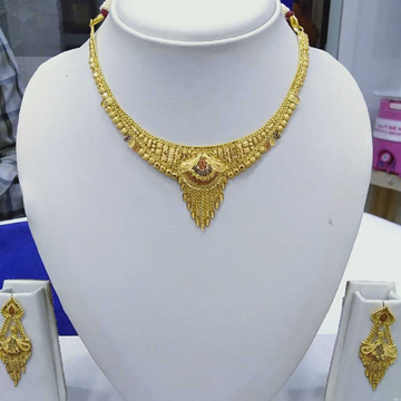 916 Gold Necklace RJ-N001 by