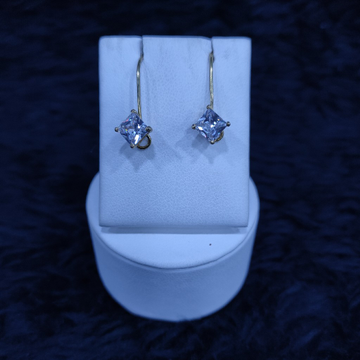 18KT/750  Yellow Gold Fancy Stoni Hanging Earrings GTB-2
