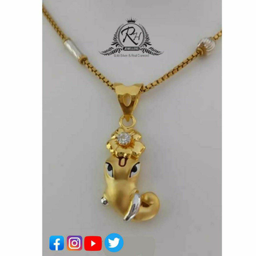 22 Carat Gold Classical Ganesha Pendants RH-PD485