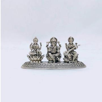 Real silver idol of laxmi ganesh saraswati ji in a...