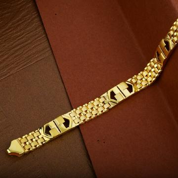 Mens Modern Wear Gold Cz Plain 22K Cartier Bracelet-MCRB17