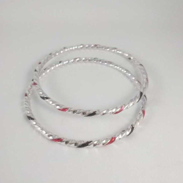 Silver Fancy Bangles.  NJ-B01023