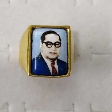 22KT Gold Ambedkar CZ Gents Ring