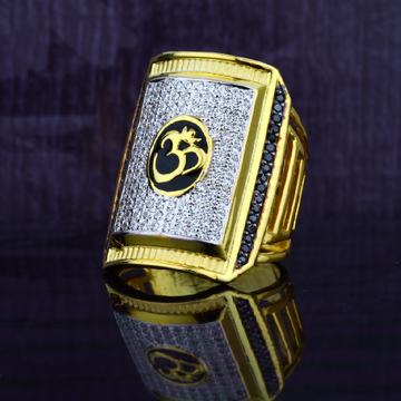 Mens 916 Exclusive Heavy Om God Gold Ring-MGR35