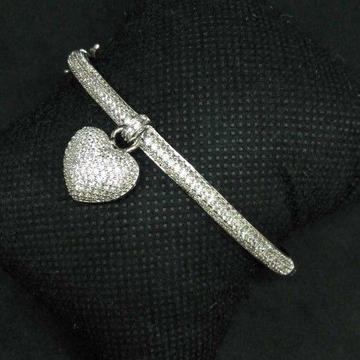 925 Sterling Silver Heart Designed Ladies Bracelet