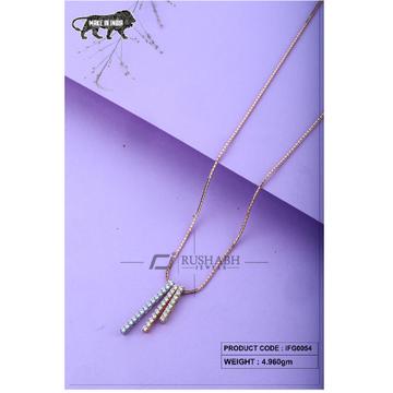 18 carat Italian ladies fancy Gold chain 3 piece ifg0054