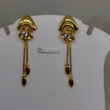 22kt gold latkan earring sog-e032 by S. O. Gold Private Limited