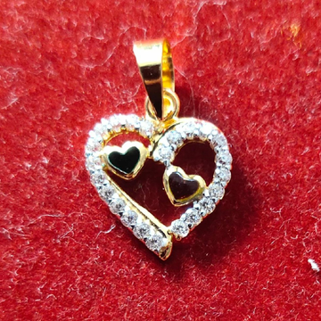 22K Heart shaped Cz pendant