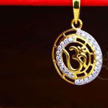 916 Gold CZ om Chain Pendal RH-CP002